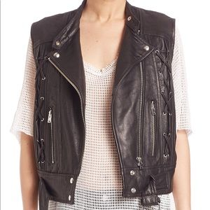 IRO Neo Leather Lace Up Vest size 36